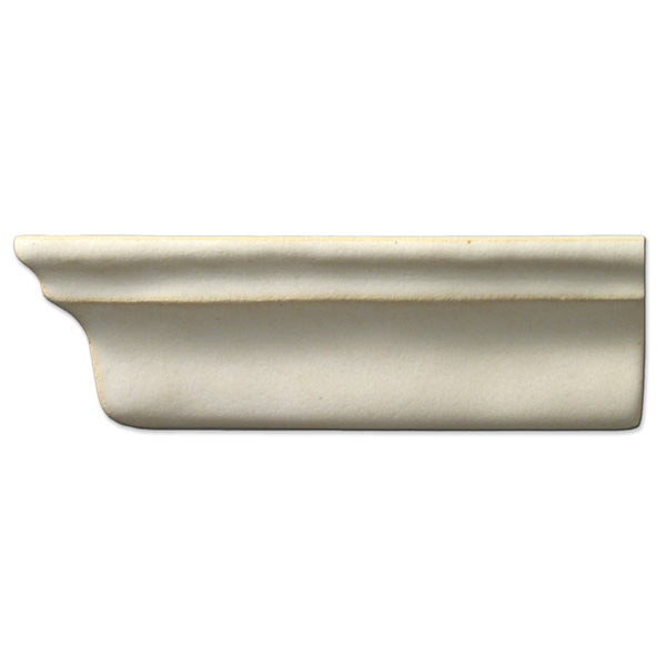 Crown Molding Left End 2x6 inch Ancient White