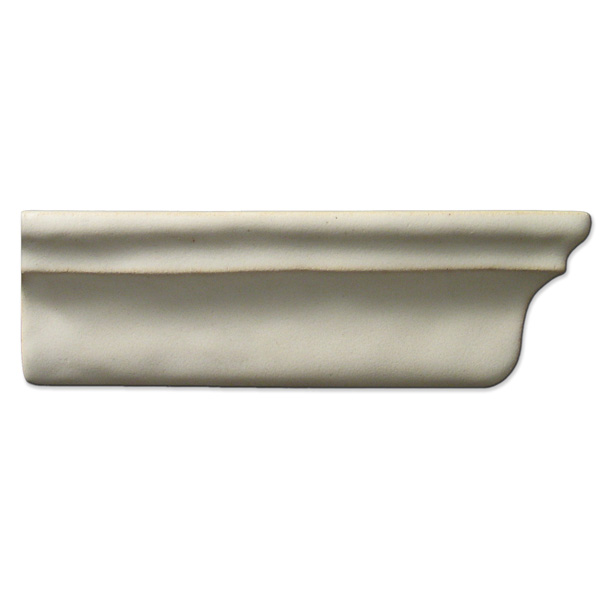 Crown Molding Right End 2x6 inch Ancient White