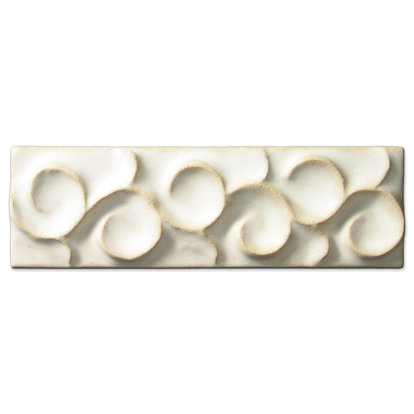 Scrolling Vine Border 2x6 inch Ancient White