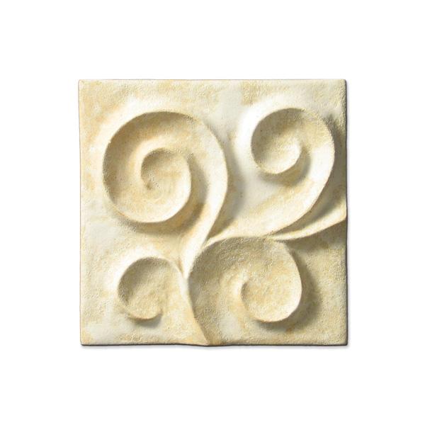 Scrolling Vine Corner 4x4 inch Primal White