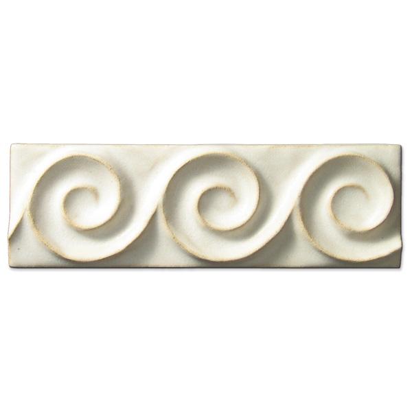Spiral Wave Border 2x6 inch Ancient White