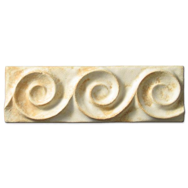 Spiral Wave Border 2x6 inch Primal White