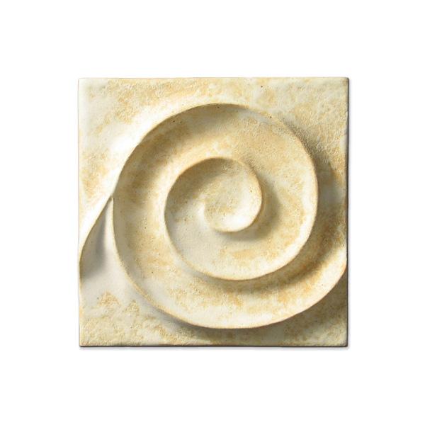 Spiral Wave 4x4 inch Primal White