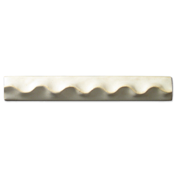 Wavy Liner 1x6 inch Ancient White