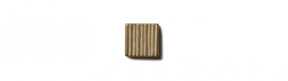Beach Grass Inset 0.75x0.75 inch accent tile  Traditional Bronze