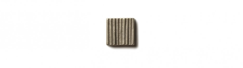 Beach Grass Inset 0.75x0.75 inch accent tile  White Bronze