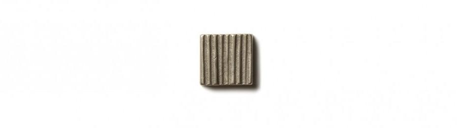 Beach Grass Inset 0.75x0.75 inch accent tile  White Bronze