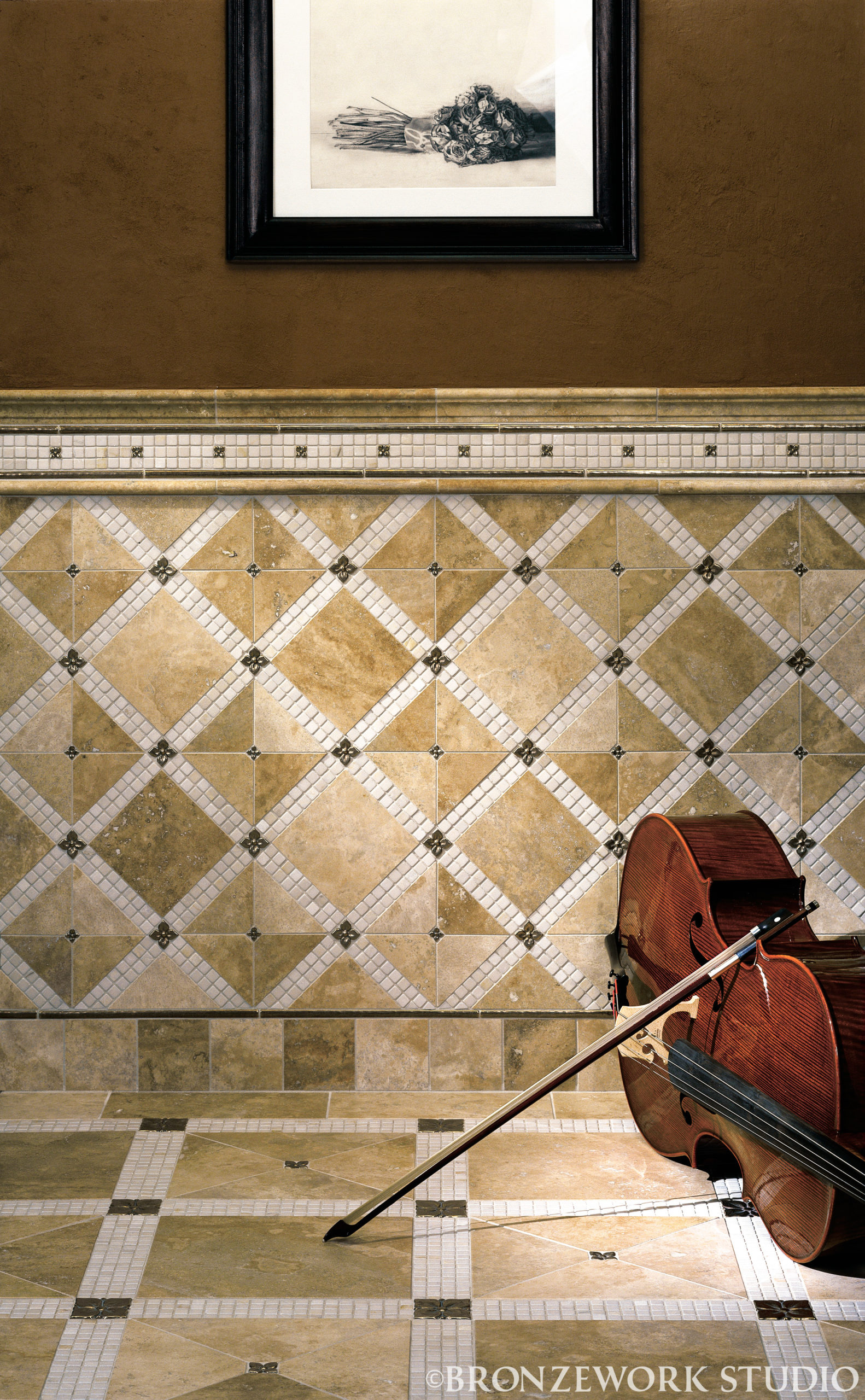 BWS Blooming Leaf and Basic Liner in Traditional Bronze with limestone cello full (c) high res