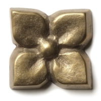 """Blooming Leaf 1.25"""" in Traditional Bronze"""