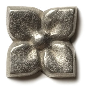 """Blooming Leaf 1.25"""" in White Bronze"""