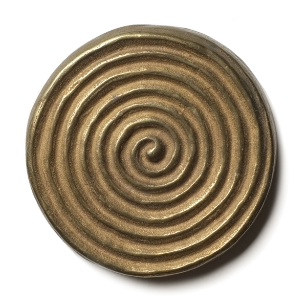 Petroglyph 2.5x2.5 inch accent tile  Traditional Bronze