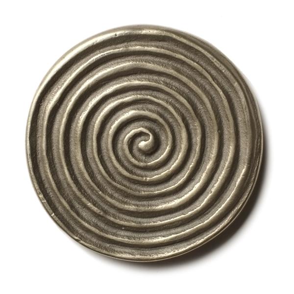 Petroglyph 2.5x2.5 inch accent tile  White Bronze