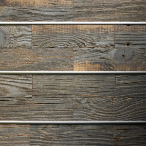 Bronzework Studio Precision Dome Liner Satin Nickel barn wood