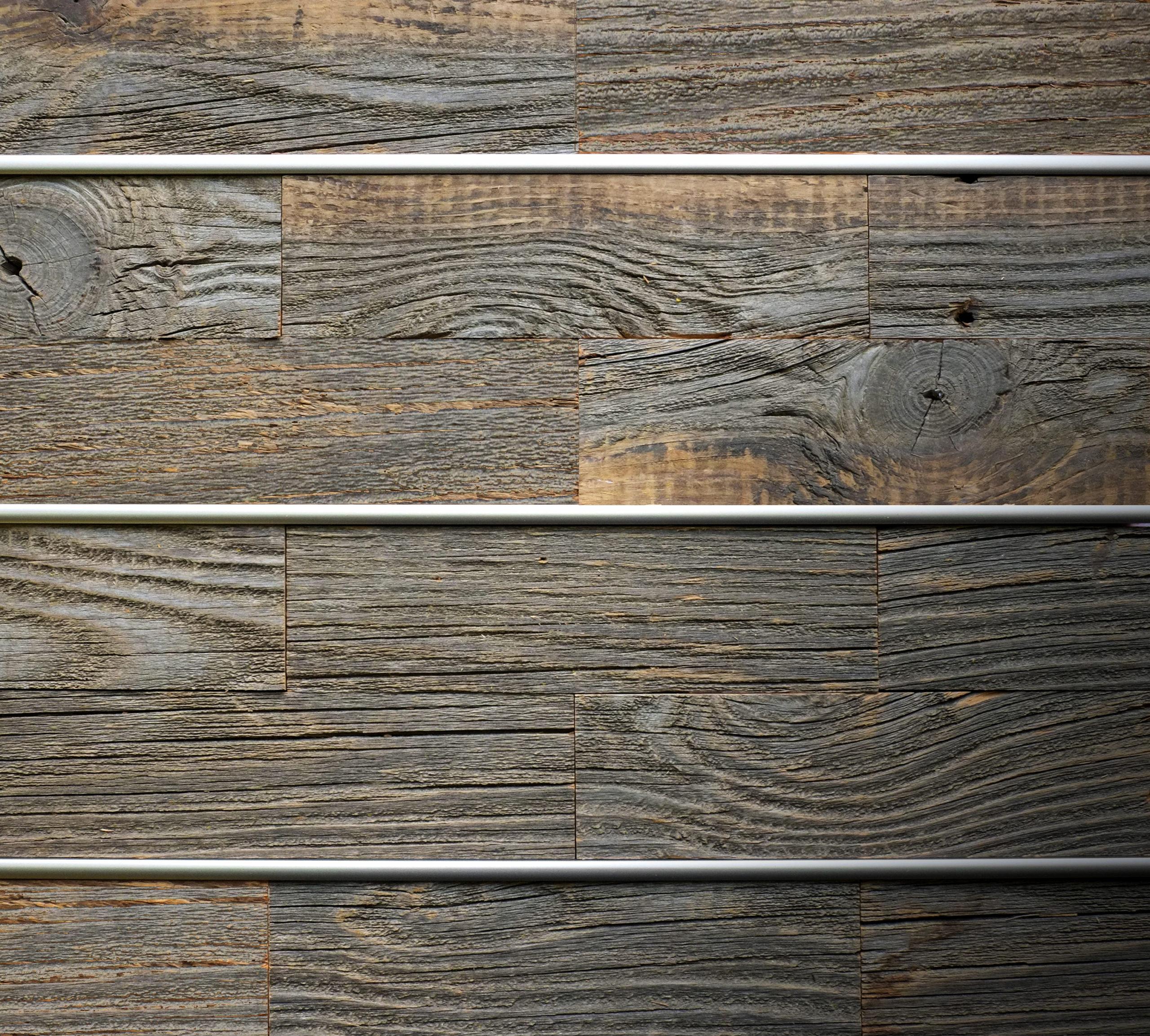 BWS Precision Liner Satin Nickel reclaimed barn wood