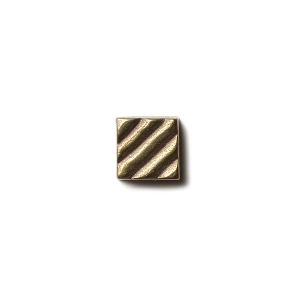 Ruffle 0.63x0.63 inch accent tile  Traditional Bronze