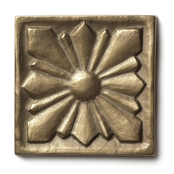 Sunrise 2.5x2.5 inch accent tile  Traditional Bronze