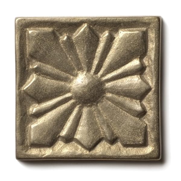 Sunrise 1.25x1.25 inch accent tile  White Bronze