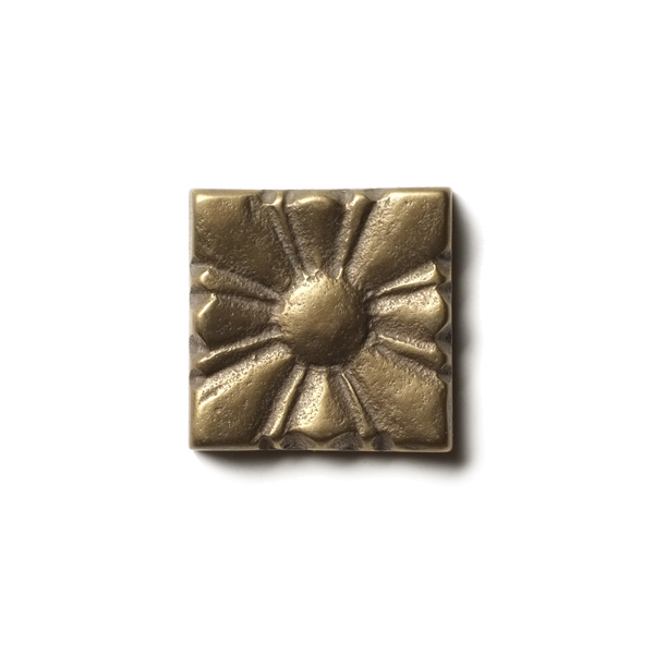 Sunrise 1.25x1.25 inch accent tile  Traditional Bronze