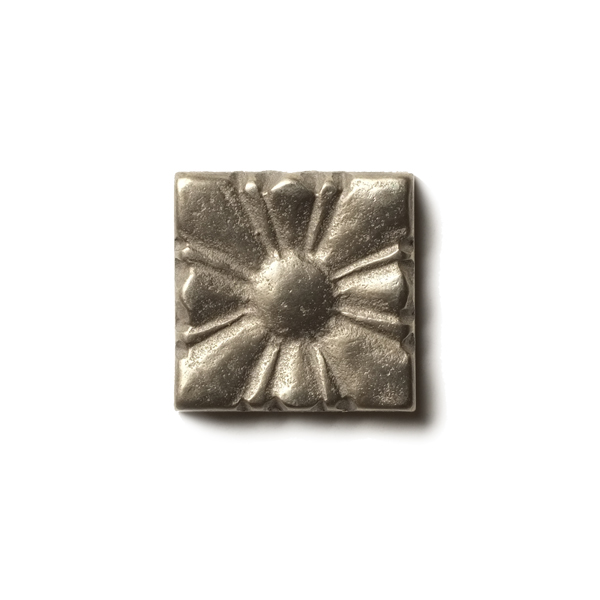Sunrise 1.25x1.25 inch accent tile  White Bronze