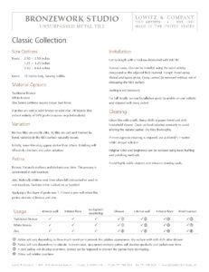 Tear Sheet (PDF)