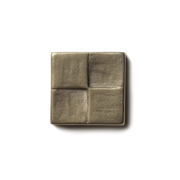 Terrace 1.25x1.25 inch accent tile  White Bronze