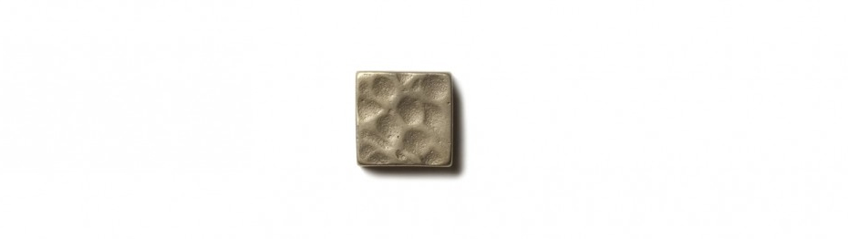 Water Song Inset 0.75x0.75 inch accent tile  White Bronze