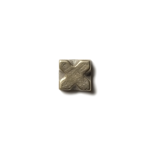 X 0.63x0.63 inch accent tile  White Bronze