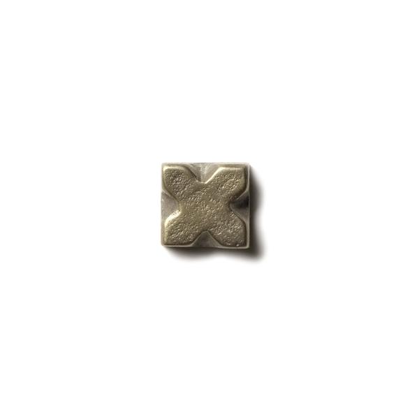 X 0.63x0.63 inch accent tile  White Bronze