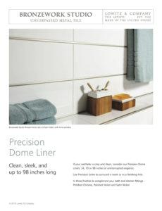 Precision Dome Tear Sheet
