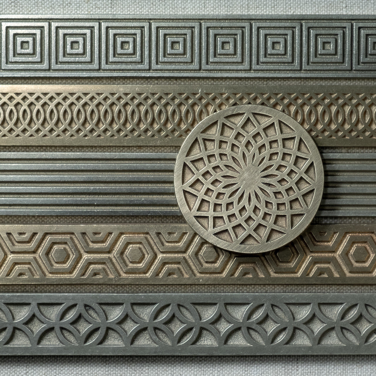 Bronzework Studio Autograph metal accent tiles array