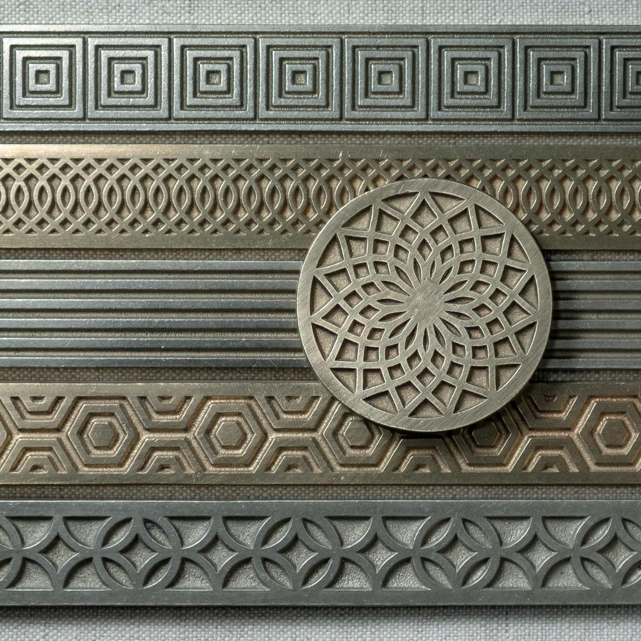 Bronzework Studio Autograph metal accent tiles array