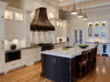 Bronzework Studio Gail Drury Design Flowing Liner metal accent tile kitchen installation