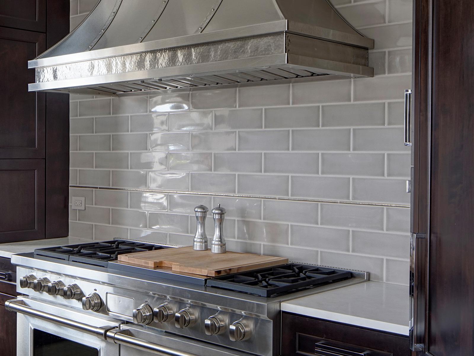 Bronzework Studio Gail Drury Design Basic Liner metal accent tile installation