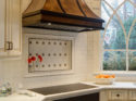 Bronzework Studio Gail Drury Design Blooming Leaf 1.25-inch, Basic Liner metal accent tile Kitchen installation