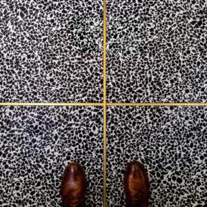 Bronzework-Studio-Hepburn-Brass-liner-Terrazzo-floor-shoes