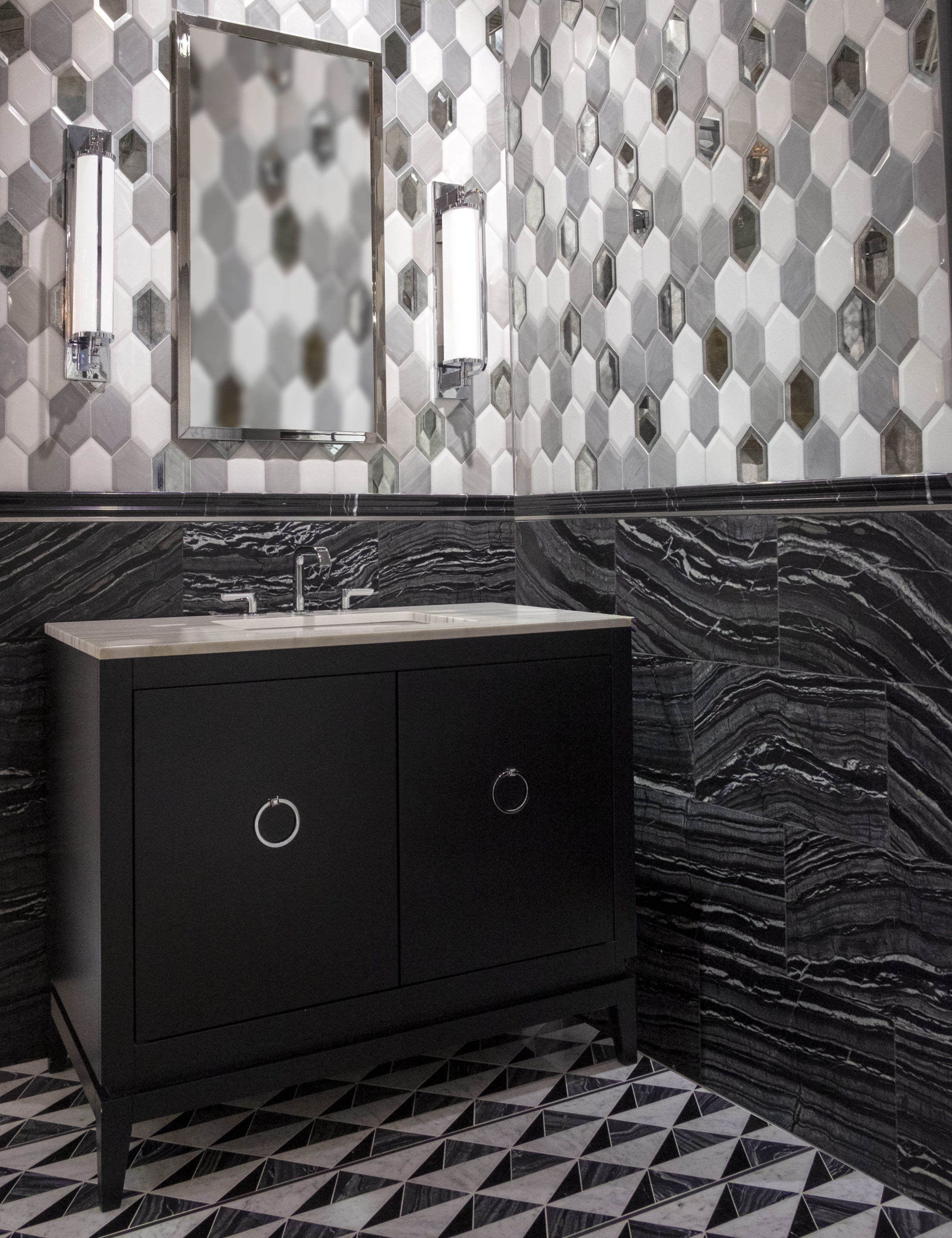 Precision Square Hepburn Stainless Steel wall & floor