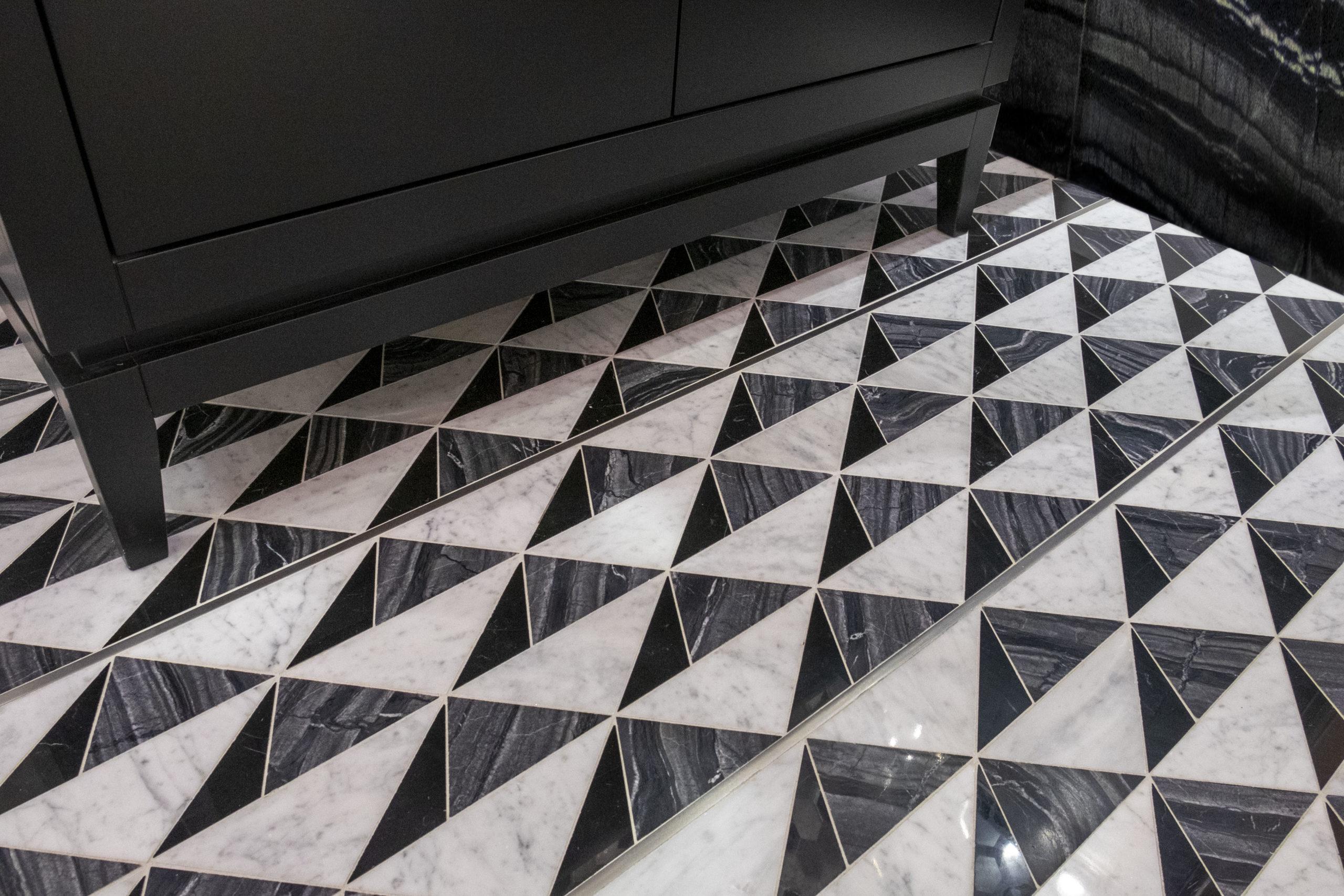 Bronzework-Studio---Precision-Liner-Stainless-Steel-stone-patterned-floor-black-white