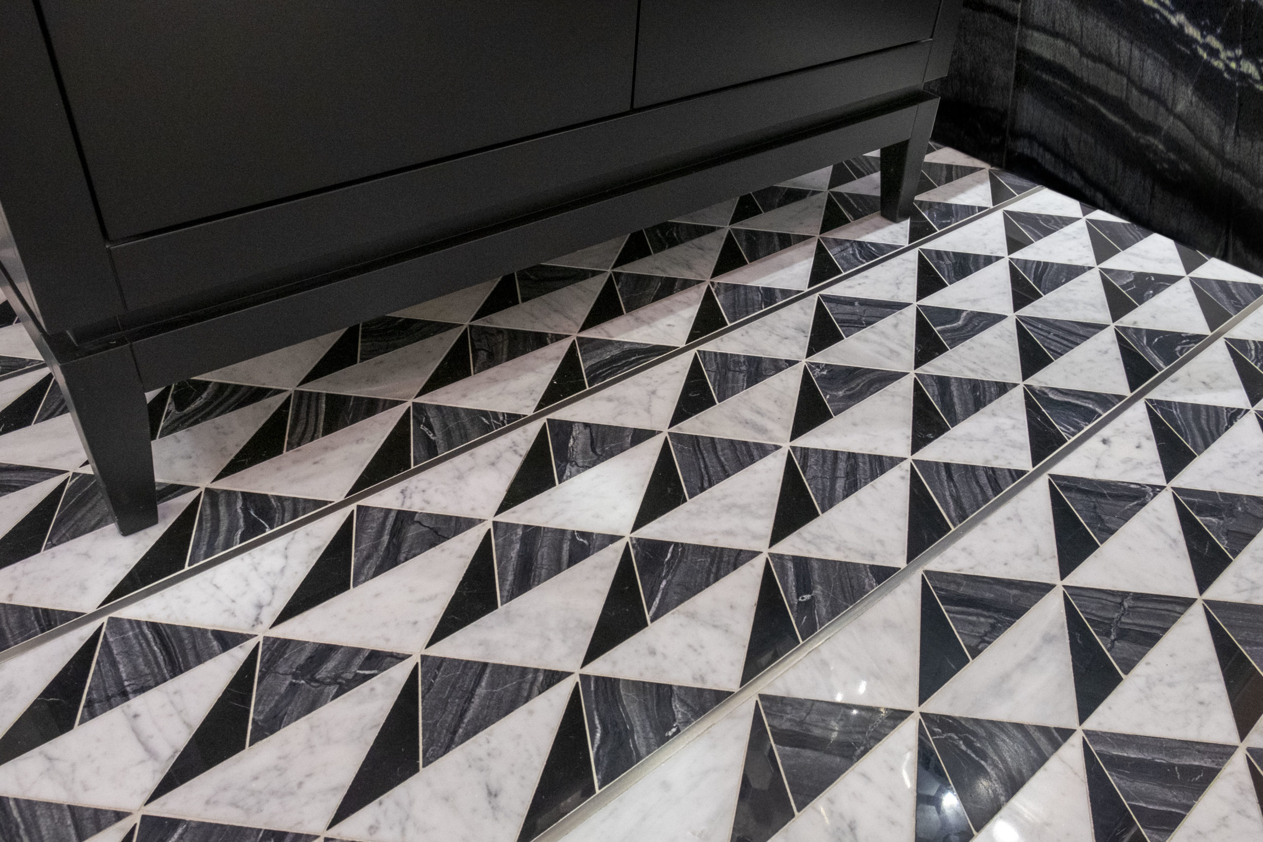 Precision Square Hepburn Stainless Steel and floor tile