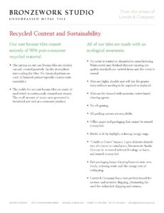 Recycled Content - Sustainability (PDF)