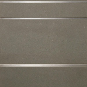 Bronzework Studio Precision Square Liner Hepburn Stainless Steel grey limestone display