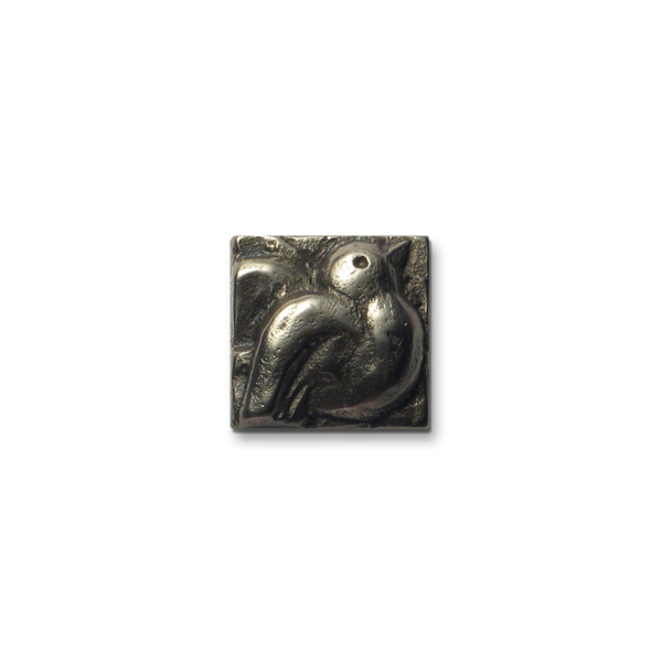 Dove 1x1 inch White Bronze