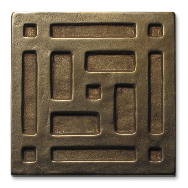 Grid 3x3 inch Traditional Bronze