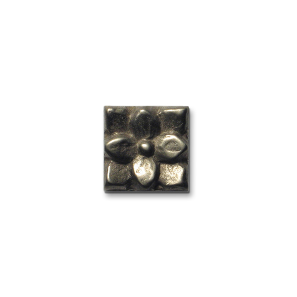 Lotus 1x1 inch White Bronze