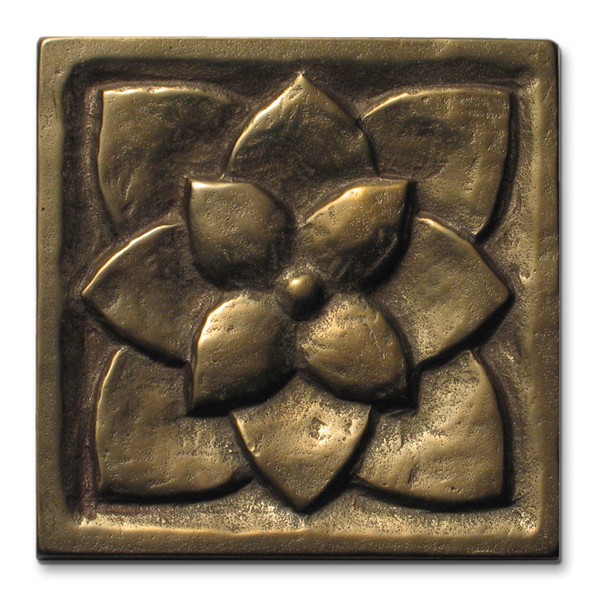 Lotus 3x3 inch Traditional Bronze