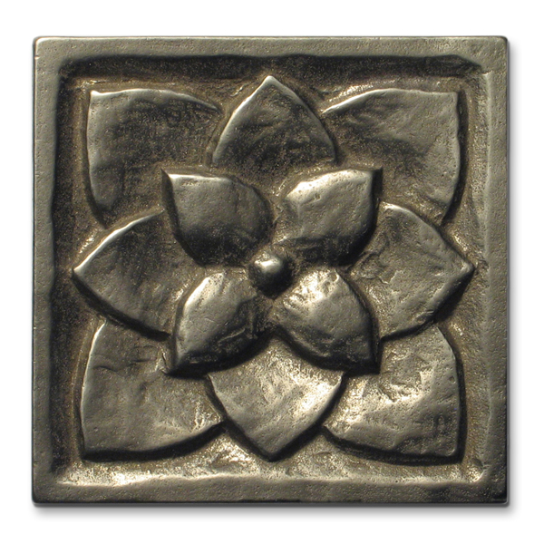 Lotus 3x3 in White Bronze