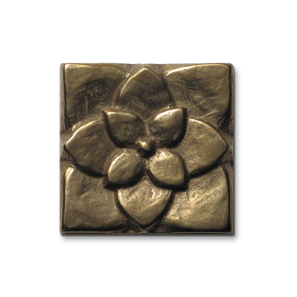 Lotus 2x2 inch Traditional Bronze