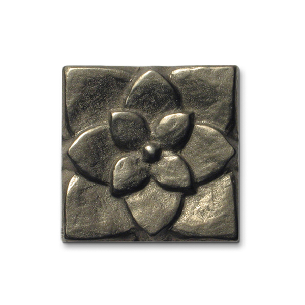 Lotus 2x2 inch White Bronze