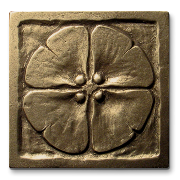 Moon Blossom 3x3 inch Traditional Bronze