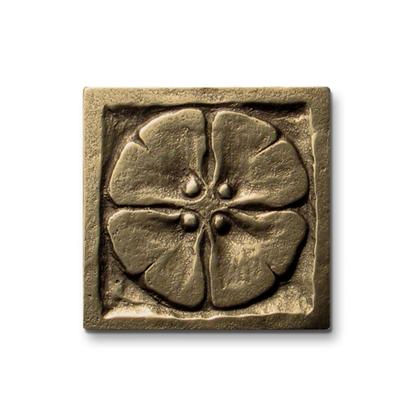 Moon Blossom 2x2 inch Traditional Bronze