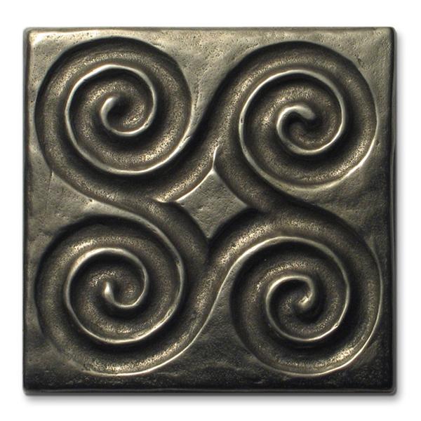 Pinwheel 3x3 inch White Bronze